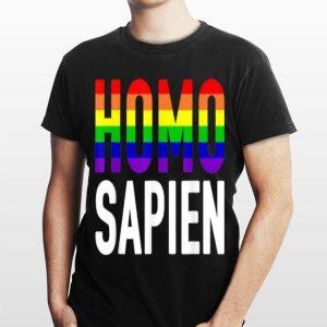 Homo Sapien Rainbow Lgbt Lesbian Trans shirt