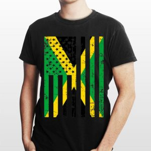 Jamaica American Flag For New Us Citizen shirt