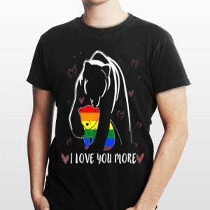 LGBT Mama Bear And Son I Love You More shirt