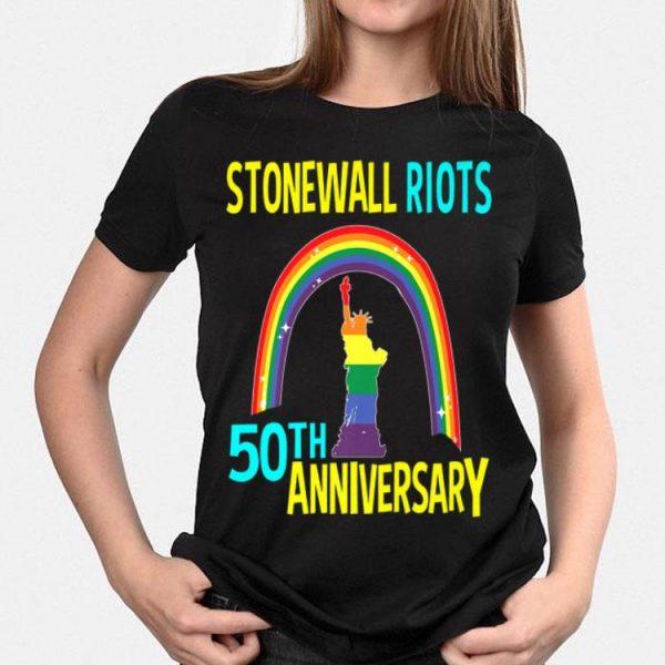 Liberty Enlightening the World Lgbtq Gay Pride Month Stonewall 50th Anniversary Rainbow shirt