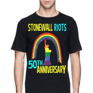 Liberty Enlightening the World Lgbtq Gay Pride Month Stonewall 50th Anniversary Rainbow shirt