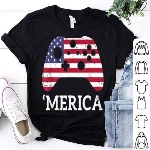 Merica 4th Of July Gamer shirt