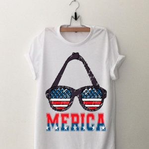 Merica Sunglasses Patriotic 4Th Of July Veterans Flag Day shirt