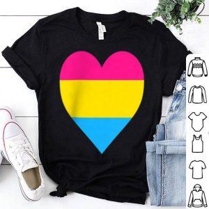 Pansexual Flag LGBT Love Heart Pocket Print Tee shirt