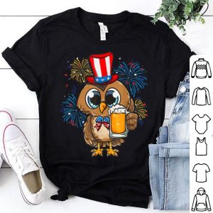Patriotic Owl USA Flag Bow Tie - 4th of July shirt