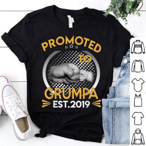 Promoted To Grumpa Est 2019 First Time New Father Day shirt