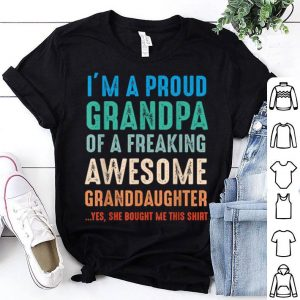 Proud Grandpa Fathers Day From Granddaughter shirt