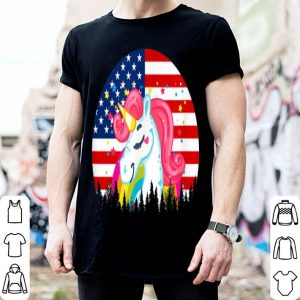 Unicorn American Flag 4th Of July shirt