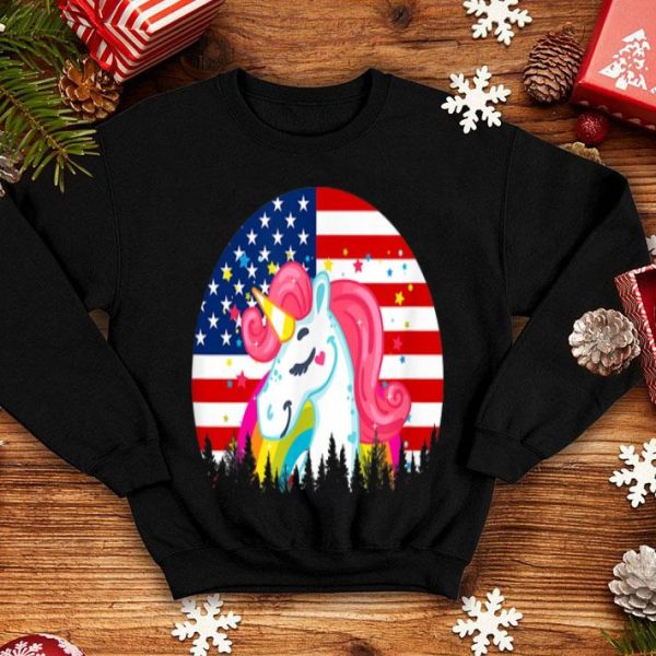 Unicorn American Flag 4th Of July shirt