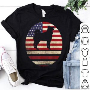 american flag 4 July Siberian Husky Dog Breed 70s 80s shirt