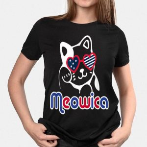 4th of July Meowica Cat Patriotic American Flag shirt