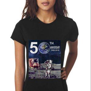 50th Anniversary Moon Landing Apollo 11 Astronaut American Flag sweater 2