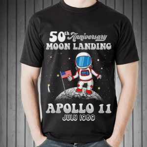 50th Anniversary Moon Landing Apollo 11 Astronaut Put American Flag July 1969 Sweater