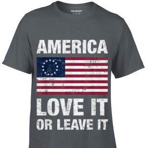 America Betsy Ross Flag Love It Or Leave It sweater