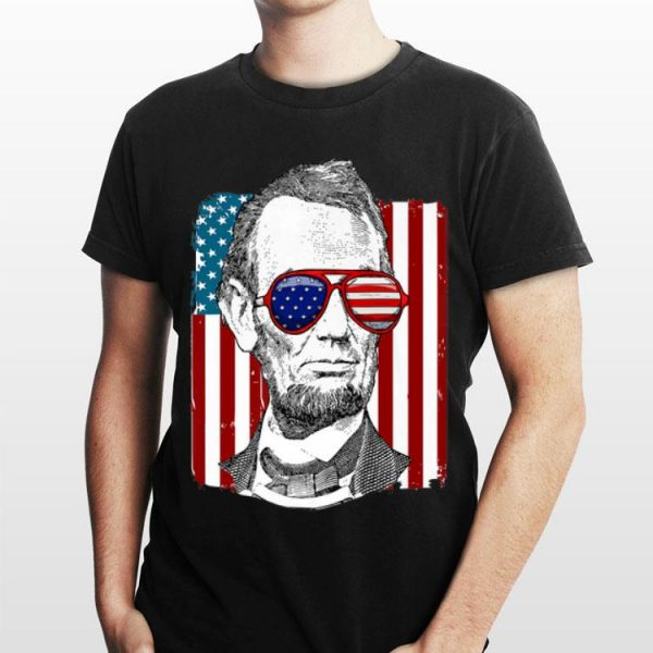 America USA Abe Lincoln 4th of July shirt