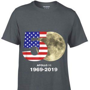 American Flag 50 th Apollo 1969 2019 Moon Landing hoodie