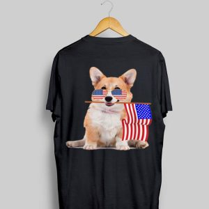 American Flag Usa 4Th Of July Corgi shirt
