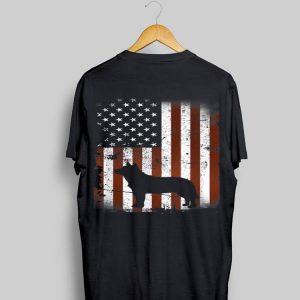 Australian Cattle Flag Dog Tee 4Th Of July Dogs shirt
