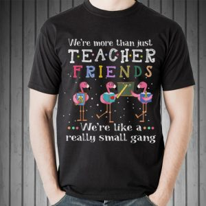 Awesome We're More than Just Teacher Friends We're Like A Really Small Gang Flamingo shirt