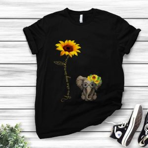 Awesome You Are My Sunshine Hippie Sunflower Elephant shirt