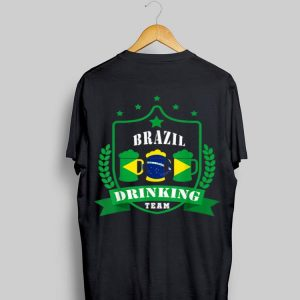 Beer Brazil Drinking Team Casual Brazil Flag shirt