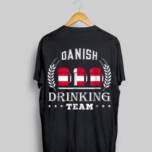 Beer Danish Drinking Team Casual Denmark Flag shirt