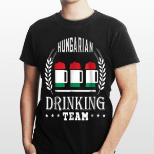 Beer Hungarian Drinking Team Casual Hungary Flag shirt