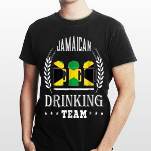 Beer Jamaican Drinking Team Casual Jamaica Flag shirt