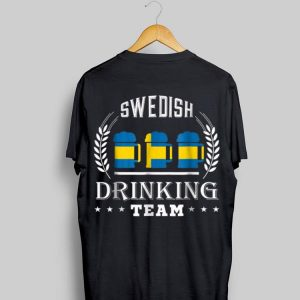 Beer Swedish Drinking Team Casual Sweden Flag shirt