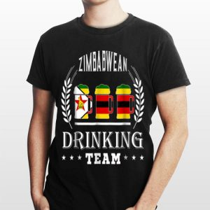 Beer Zimbabwean Drinking Team Casual Zimbabwe Flag shirt