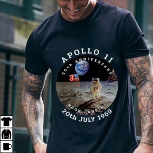 Best price Astronaut Apollo 11 50th Anniversary Moon Landing American Flag 20th July 1969 shirt