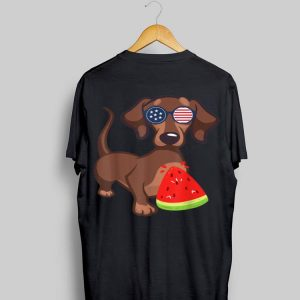 Dachshund 4Th Of July Watermelon Novelty shirt