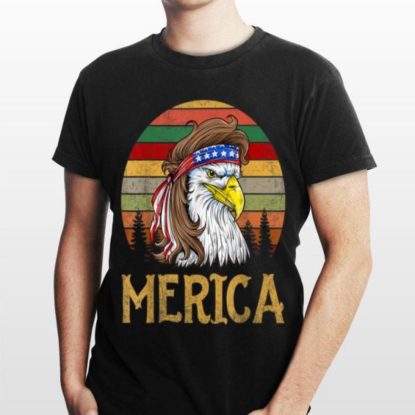 Eagle Mullet Merica Vintage 4Th Of July American Flag Usa shirt