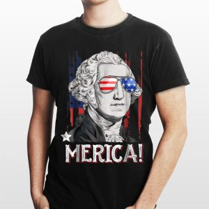 George Washington Merica 4th of July Men Women shirt