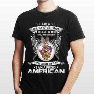I Am A Us Navy Veteran I Am A Proud American Cool shirt