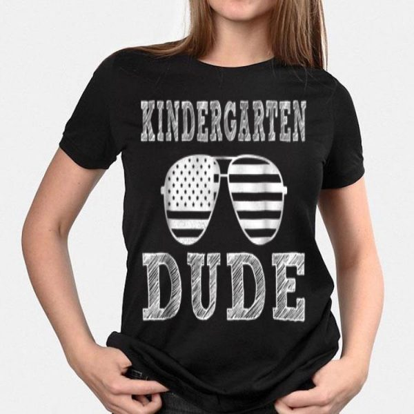 Kindergarten Dude Kids First Day Of Back To School shirt