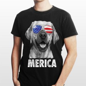 Labrador 4Th Of July Merica Sunglasses Usa American Flag shirt