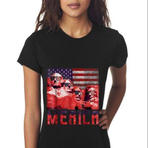 Merica 4th of July Mount Rushmore US Flag Sweater 2