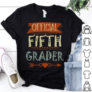 Official 5th Grader 5th Grade Back To School shirt