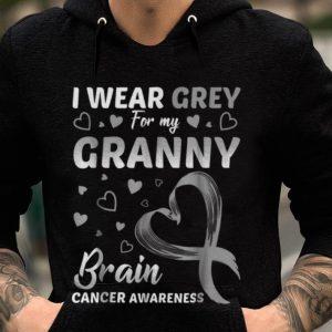 Premium I Wear Grey For My Granny Brain Cancer Awareness shirt