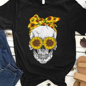 Premium Skull Bandana Headband Sunflower Bow shirt