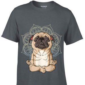 Pug Mops Dog Meditation Yoga Namaste Mandala sweater