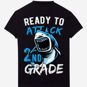 Ready To Attack 2nd Grade Shark hoodie