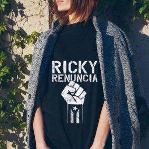 Ricky Renuncia Bandera Negra Puerto Rico tank top