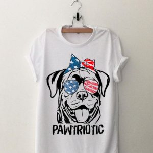 Rottweiler Rottie Pawtriotic Glasses US Flag July 4th shirt