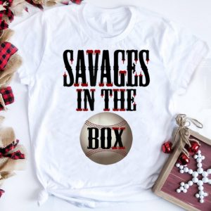 The Best Savages In That Box Bleed Baseball shirt