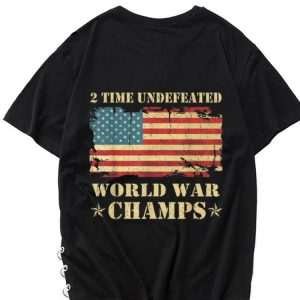 The best trend 2 Time Undefeated World War Champs Ameican Flag shirt