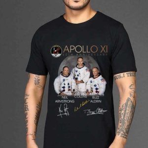 The best trend Apollo 11 50th Anniversary Neil Armstrong Micheal Collins Buzz Aldrin Signature shirt