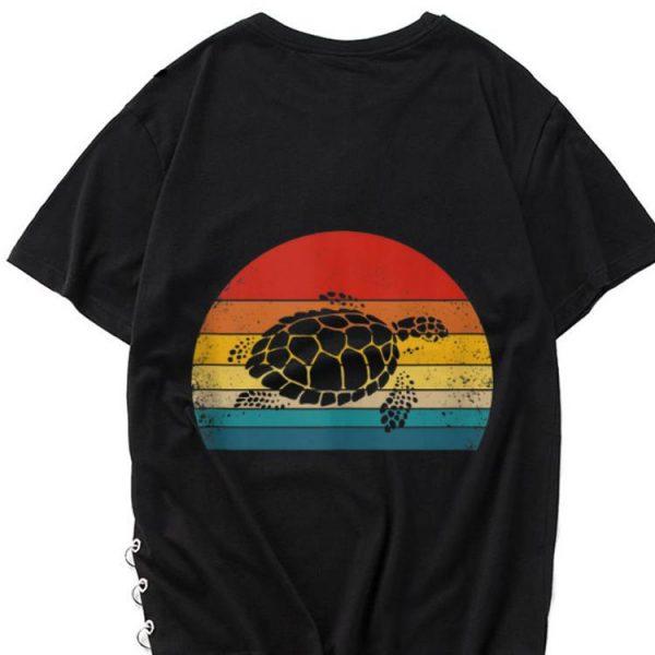 The best trend Vintage Sea Turtle Retro Silhouette shirt