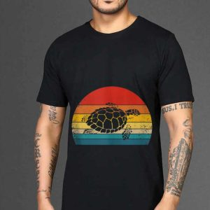 The best trend Vintage Sea Turtle Retro Silhouette shirt